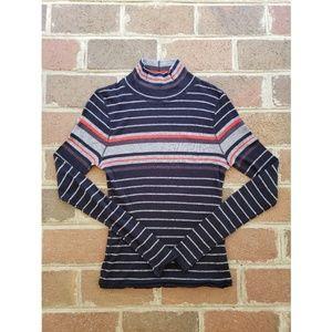 Rag & Bone Mock Turtleneck Stripe Sweater Top